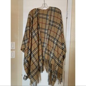 Burberry style poncho/cape
